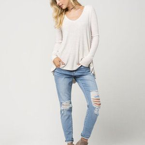 Free Peope White Thermal Long Sleeve Top - Medium